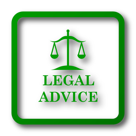 injustice: Legal advice icon. Internet button on white background.