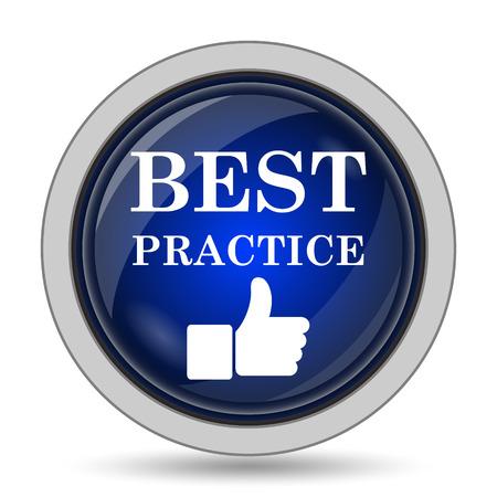 best: Best practice icon. Internet button on white background. Stock Photo