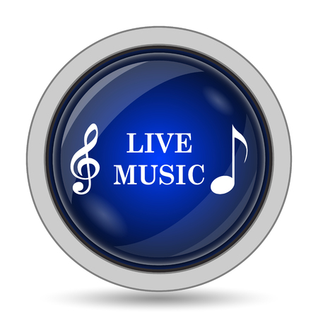 live stream sign: Live music icon. Internet button on white background. Stock Photo