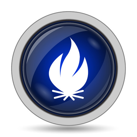 inflammable: Fire icon. Internet button on white background.