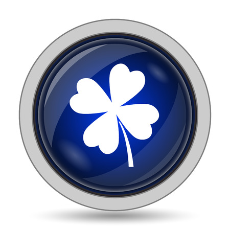 clover icon: Clover icon. Internet button on white background.