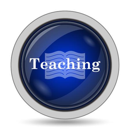 course development: Teaching icon. Internet button on white background. Stock Photo
