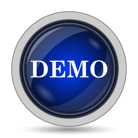 demo: Demo icon. Internet button on white background.