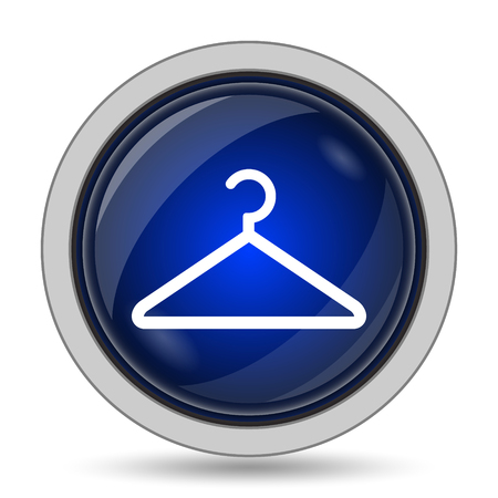 clothing rack: Hanger icon. Internet button on white background.