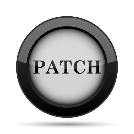 interconnect: Patch icon. Internet button on white background.