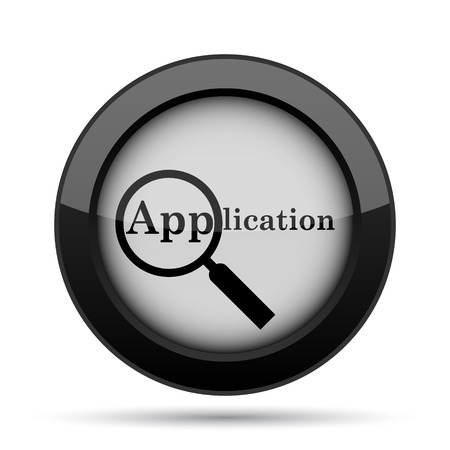 requisition: Application icon. Internet button on white background.