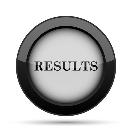 consequence: Results icon. Internet button on white background.