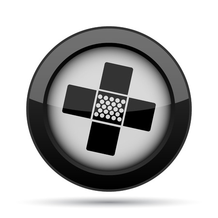 patch: Medical patch icon. Internet button on white background.