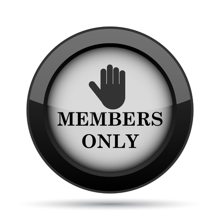 private club: Members only icon. Internet button on white background.