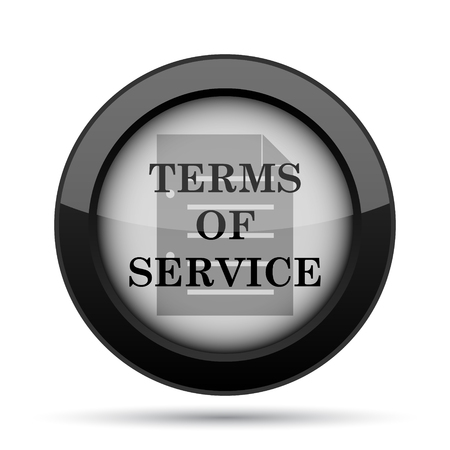 terms: Terms of service icon. Internet button on white background.