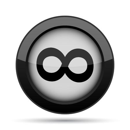 mobius symbol: Infinity sign icon. Internet button on white background.