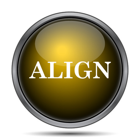 aligned: Align icon. Internet button on white background. Stock Photo