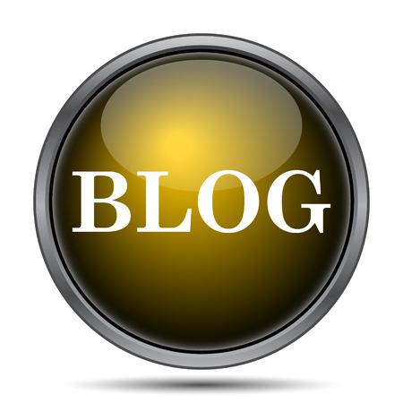 blog icon: Blog icon. Internet button on white background.