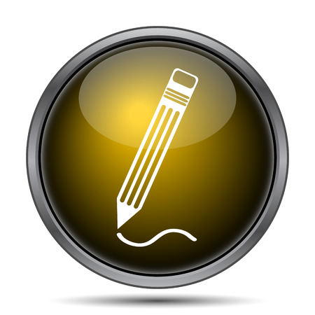 Icono Pen. Botón de internet sobre fondo blanco.