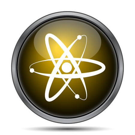 gamma radiation: Atoms icon. Internet button on white background.