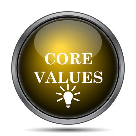 nucleo: Core icono de valores. Botón de internet sobre fondo blanco. Foto de archivo