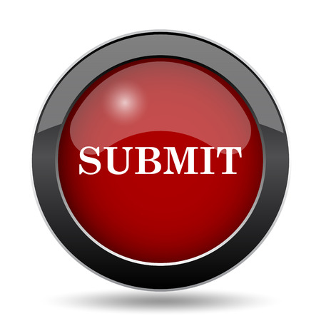 submission: Submit icon. Internet button on white background.