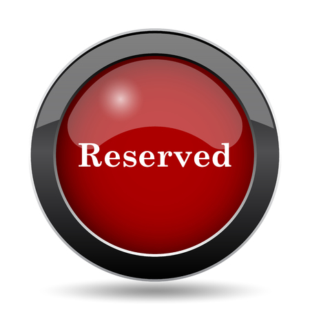 reservations: Reserved icon. Internet button on white background.