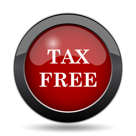 duties: Tax free icon. Internet button on white background. Stock Photo