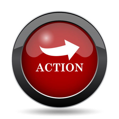 activist: Action icon. Internet button on white background.