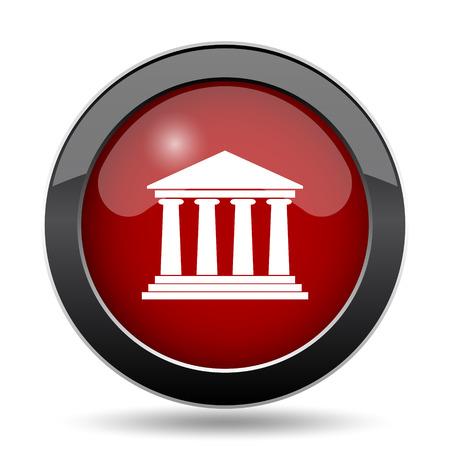 derecho romano: Building icon. Internet button on white background.