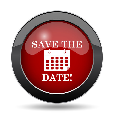 appointments: Save the date icon. Internet button on white background.
