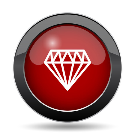 unbreakable: Diamond icon. Internet button on white background.