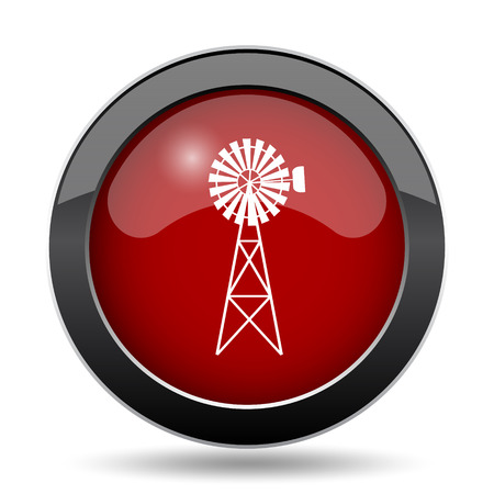 power icon: Classic windmill icon. Internet button on white background.