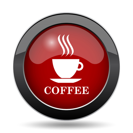thumbnail: Coffee cup icon. Internet button on white background.