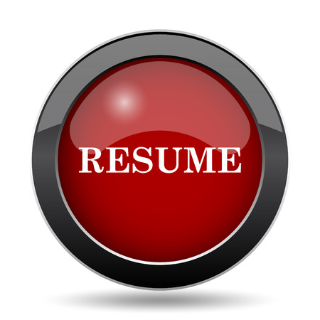 vacant sign: Resume icon. Internet button on white background.