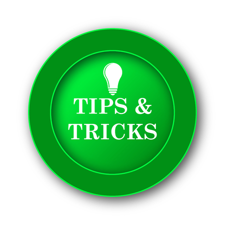 helpful: Tips and tricks icon. Internet button on white background.