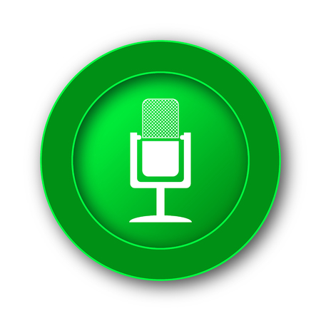 talk show: Microphone icon. Internet button on white background.