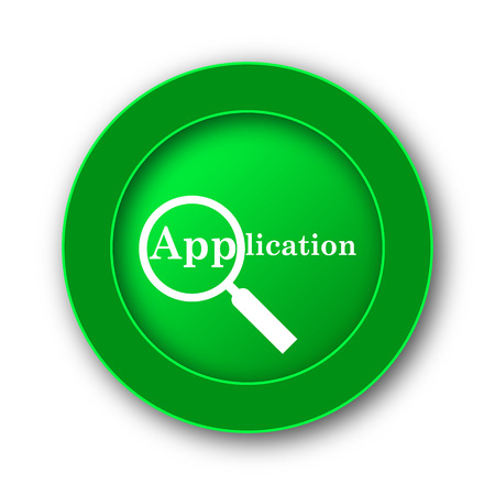 applied: Application icon. Internet button on white background.