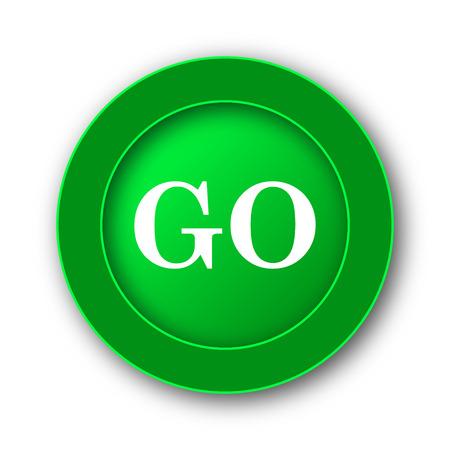 GO icon. Internet button on white background. Stock Photo