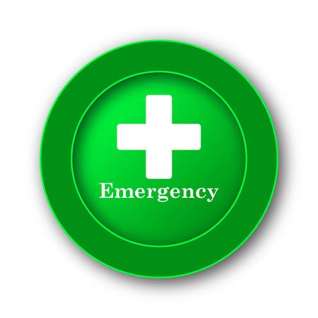 Emergency icon. Internet button on white background. Stock Photo