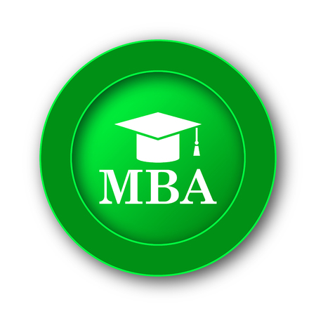 MBA icon. Internet button on white background.