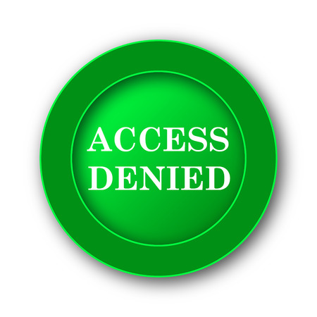 no mistake: Access denied icon. Internet button on white background.