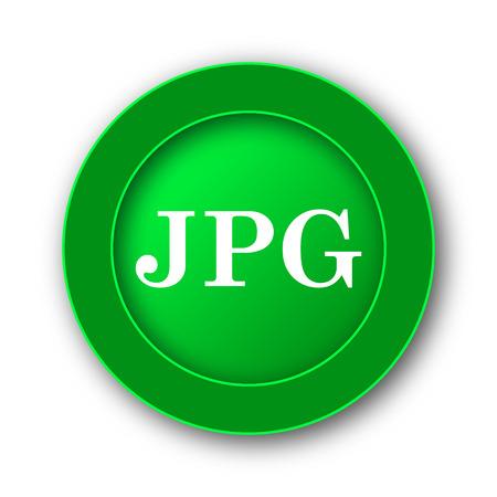JPG icon. Internet button on white background.