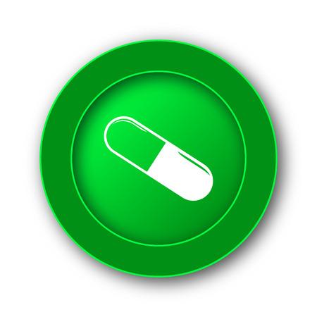 pill prescription: Pill icon. Internet button on white background.