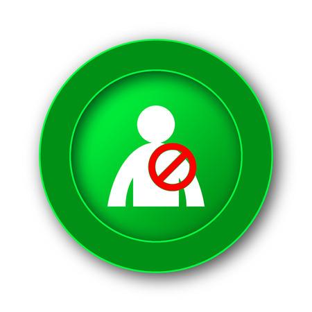 offline: User offline icon. Internet button on white background.