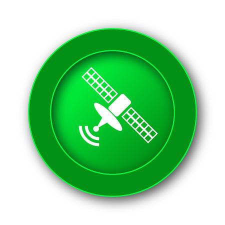 Antenna icon. Internet button on white background.