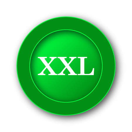 size specification: XXL  icon. Internet button on white background. Stock Photo