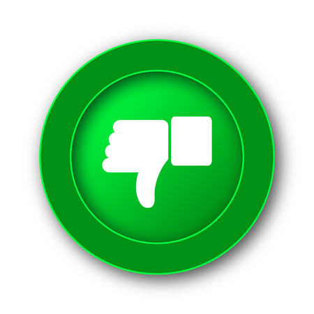 unlike: Thumb down icon. Internet button on white background.