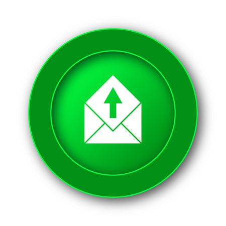 send email: Send e-mail icon. Internet button on white background.
