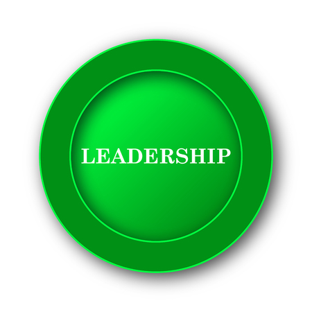 superintendence: Leadership icon. Internet button on white background. Stock Photo