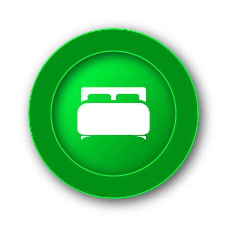 twin bed: Double bed icon. Internet button on white background.