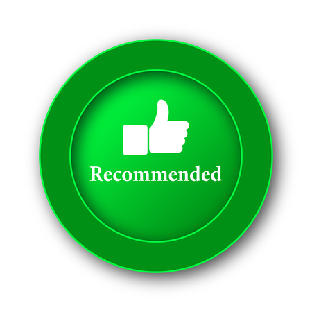 Recommended icon. Internet button on white background. Stock Photo