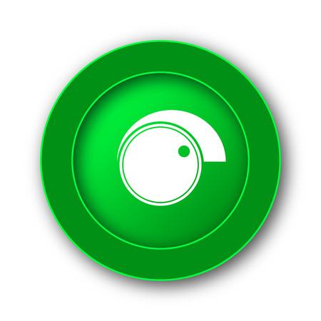 volume knob: Volume control icon. Internet button on white background.