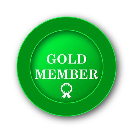 privilege: Gold member icon. Internet button on white background.