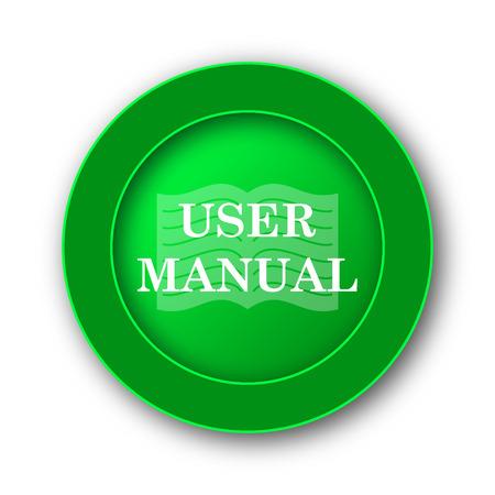 handbook: User manual icon. Internet button on white background.